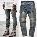 НОВЫЕ ГОРЯЧИЕ мужчины Раза известный бренд джинсы Хип-Хоп высокого качество Тощий Денима Бегуны Мода Уличная брюки брюки 3 цвета