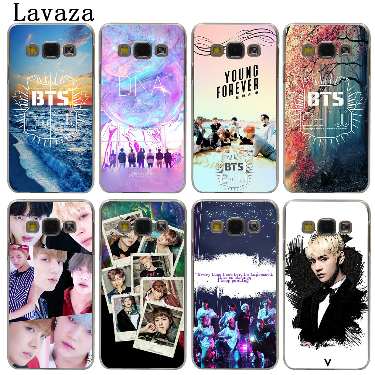 Lavaza BTS Bangtan Boys Hard Cover Case for Samsung Galaxy J7 J1 J2 J3 J5 2015 2016 2017 Prime Pro Ace 2018 Cases