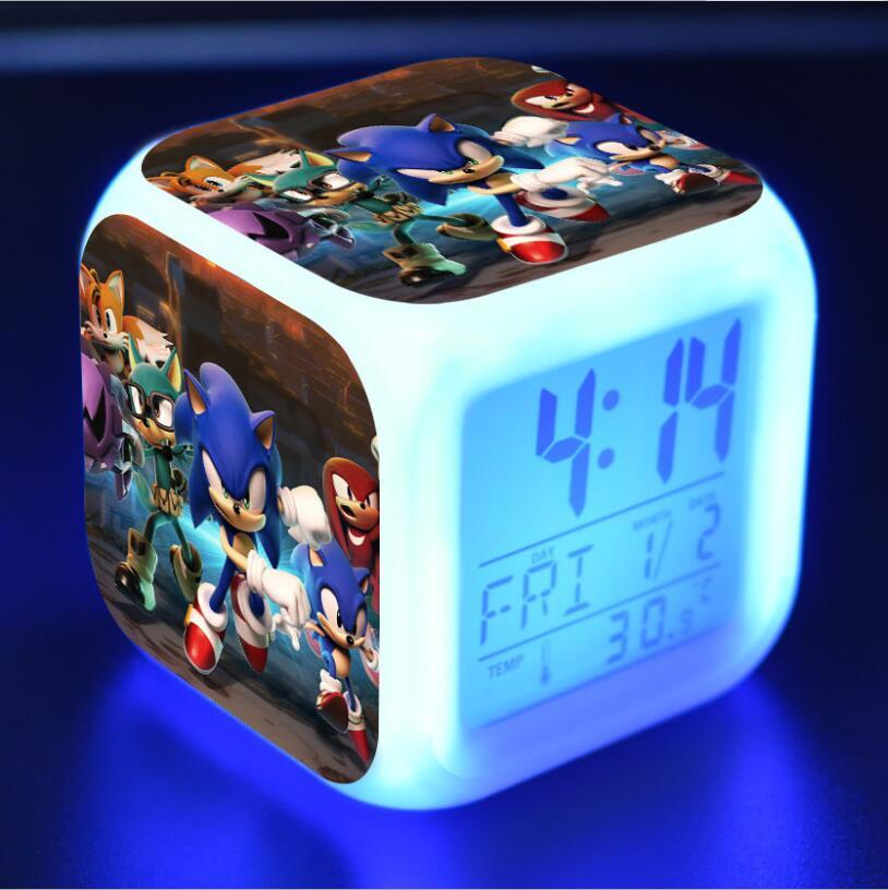 Sonic The Hedgehog LED Cube Alarm Clock 7