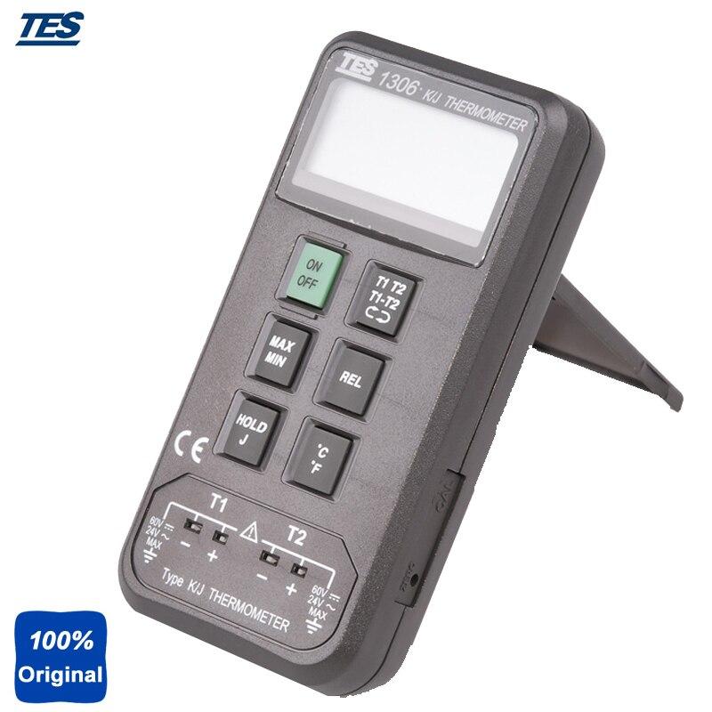 Digital Thermometer Auto Ranging K/J Type Thermocouple Thermometer TES-1306 teansi tasi 605 k j type thermocouple