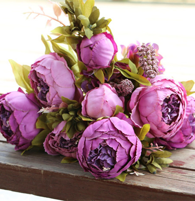 8 heads bunch  47cm 18 5  Artificial Peony Flower Fake Peonies with      8 heads bunch  47cm 18 5  Artificial Peony Flower Fake Peonies with