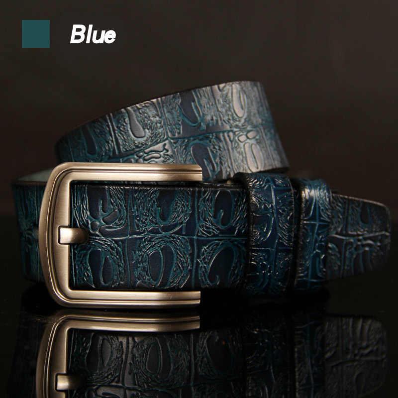 Hreecow Designer Riemen Hoge Kwaliteit Mannelijke Riem Lederen Band Luxe Beroemde Merk Krokodil Pin Gesp Ceinture Homme