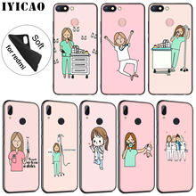 IYICAO Cartoon Doctor Nurse Hot Fashion Fun Dynamic Soft Case for Xiaomi Redmi K20 8A 7A 6A 5A S2 4X 4A GO Note 8 7 5 Plus 6 Pro(China)
