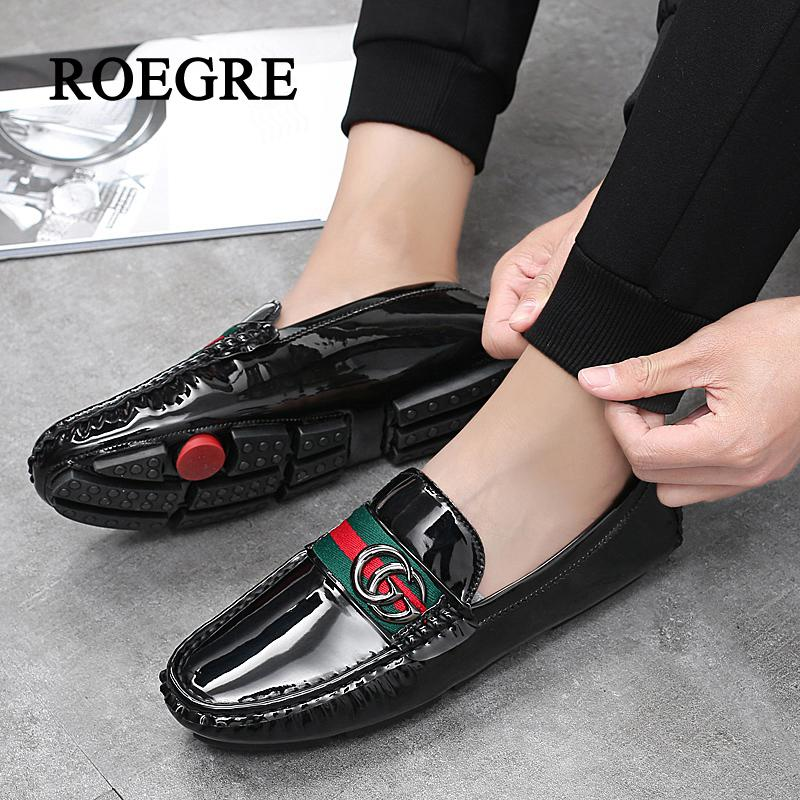 Men Casual Shoes Fashion Men Shoes Leather Man Loafers Moccasins Slip On Male Flats Comfortable Driving shoes Plus Size 38-47 new fashion autumn solid color men shoes leather low slip on men flats oxford shoes for men driving shoes size 38 44 yj a0020