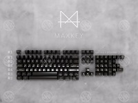 MAXKEY Miami red keycaps SA Double shot ABS gaming keycap 127 keys for mechanical keyboard poker filco 104 keys