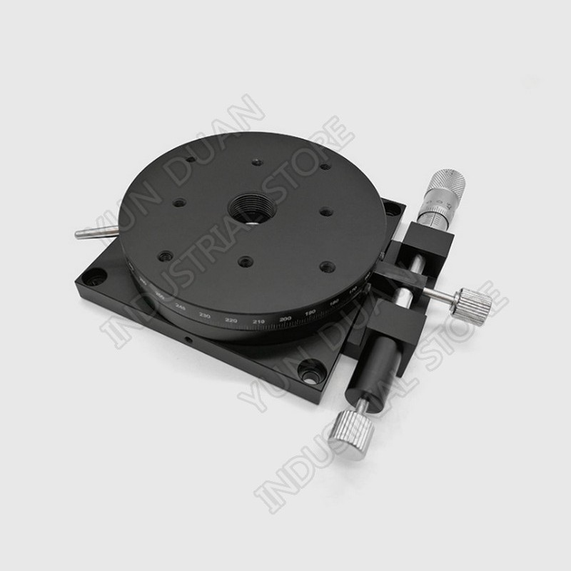 R Axis 90MM 3.6 Manual 360 degree Heavy Load Rotary sliding table Micrometer Precision Adjust Angle Platform Optical RSP90-LR Axis 90MM 3.6 Manual 360 degree Heavy Load Rotary sliding table Micrometer Precision Adjust Angle Platform Optical RSP90-L