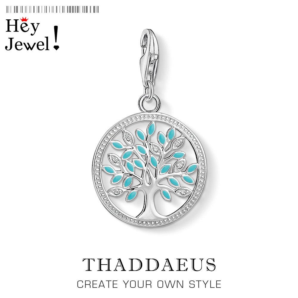 Blue Tree Charm 2019 Thomas Style Club Good Meaningful Jewelry Thomas Symbol Of Life Gift In 925 Sterling Silver Fit Bracelet