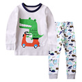 2017 Hello Kitty Pajamas Cartoon Baby Boys Girls Sleepwear Dinosaur Pajamas Animal Pajamas Kids Pajama sets Children Clothing