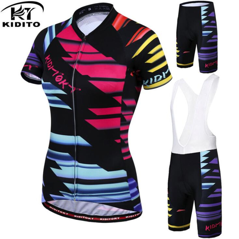 KIDITOKT Short Sleeve Cycling Jersey set Mountain Bicycle Clothing Maillot Ropa Ciclismo Racing Bike Clothes Cycling Clothing