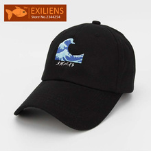 2017 New Fashion Brand Breathable Waves Snapback Caps Strapback Baseball Cap Bboy Hip-hop Hats For Men Women Fitted Hat Black