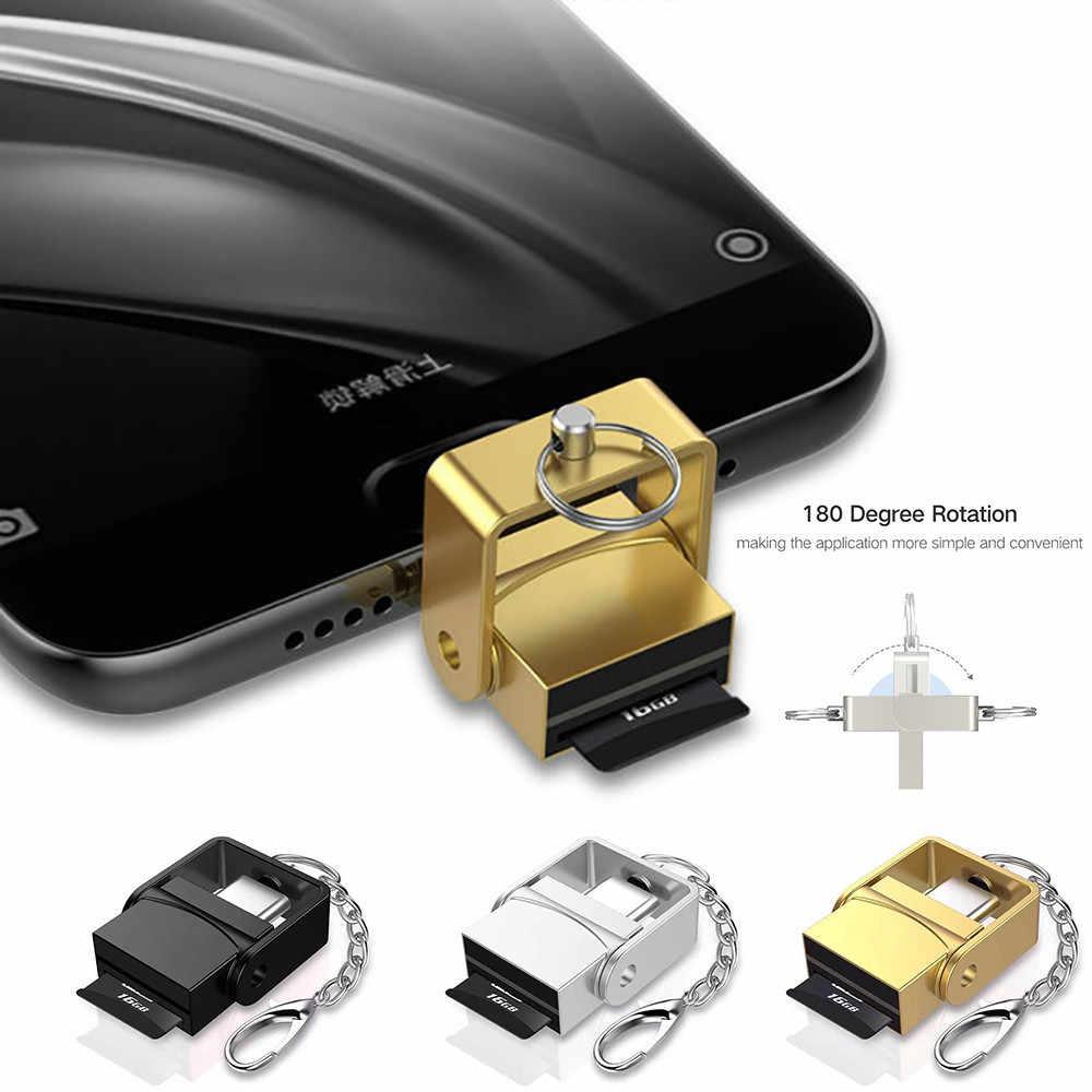 2 em 1 USB 3.1 Tipo C USB-C TF Micro SD Card Reader OTG Para Samsung Galaxy S9 Memória Inteligente adaptador de cartão para PC Android Telefone
