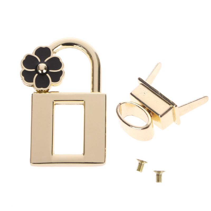 High Quality Metal Magnetic Clasp Turn Lock Twist Locks Metal Hardware For Diy Handbag Bag Purse Bag Parts & Accessories