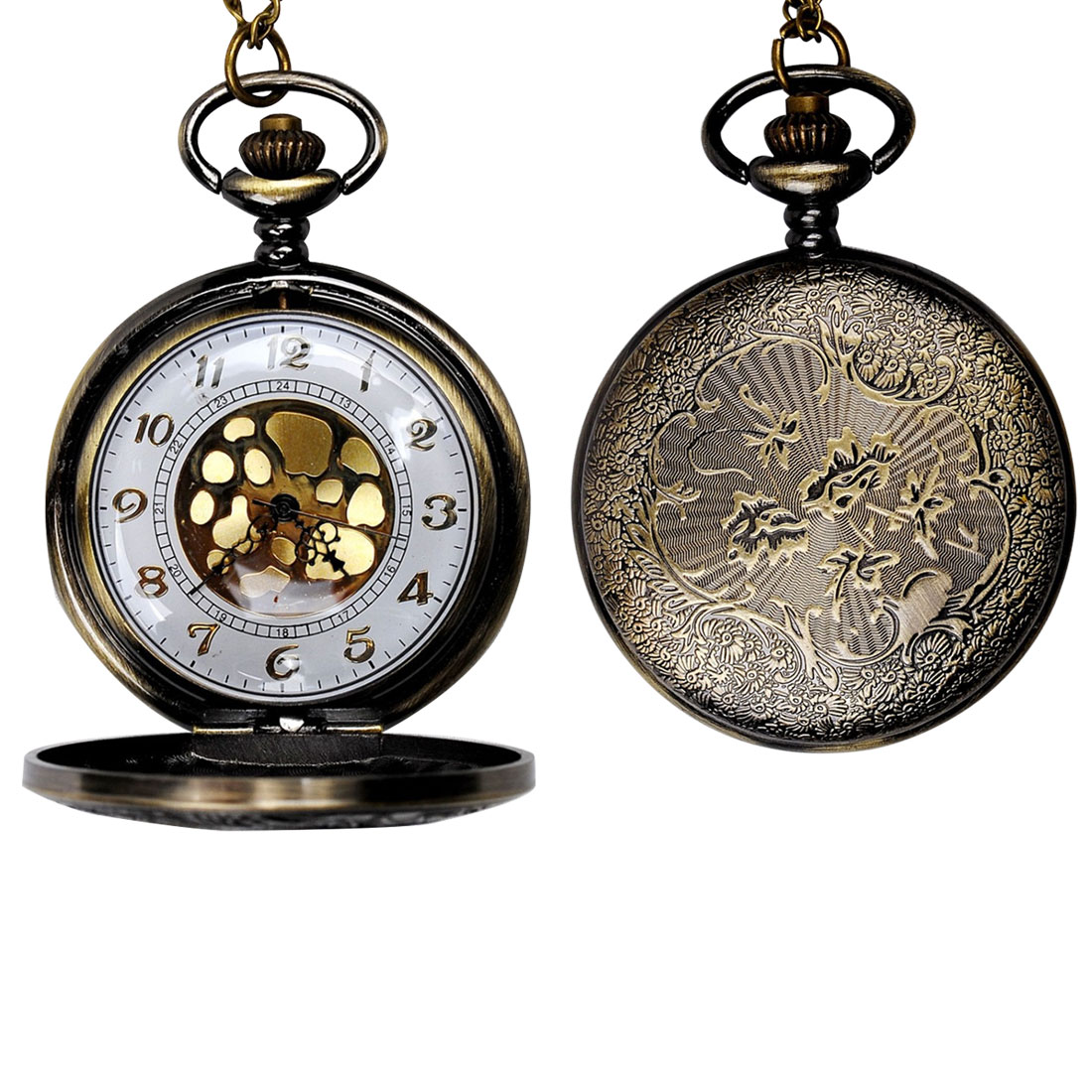 2018 Fashion Roman Scale Pocket Watch Bronze Fashion Wild Men And Women Chain Watch Classic Large Gold Face Roman Pocket Watch in Pocket Fob Watches from Watches