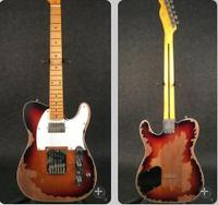 High quality electric guitar with Handmade old ,with maple fingerboard in sunburst color , point inlays