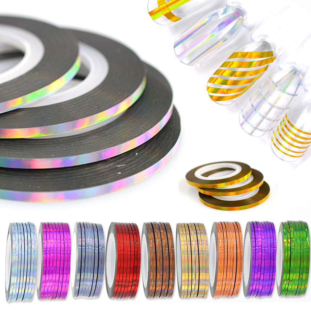 Nail Striping Tape Walmart: 50 Rolls Holographic Nail Striping Tapes Set Laser
