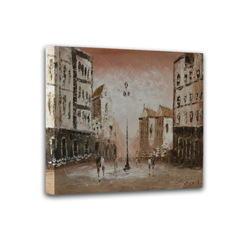Modern home decor hand-painted oil paintings restoring ancient ways of city street landscape art pictures DM15062717