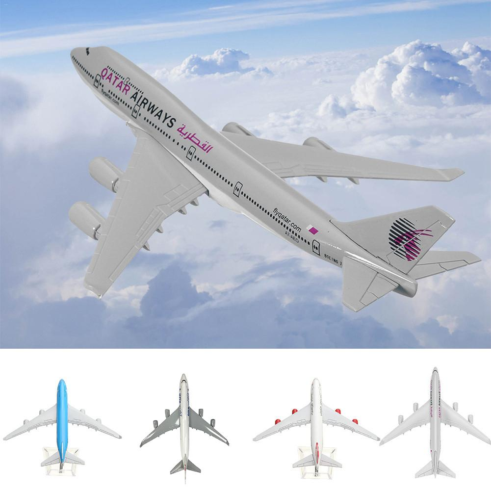 B747 KLM Collection Model 16CM Metal Airplane Model Plane Model Aircraft Model Building Kits Toy For Children