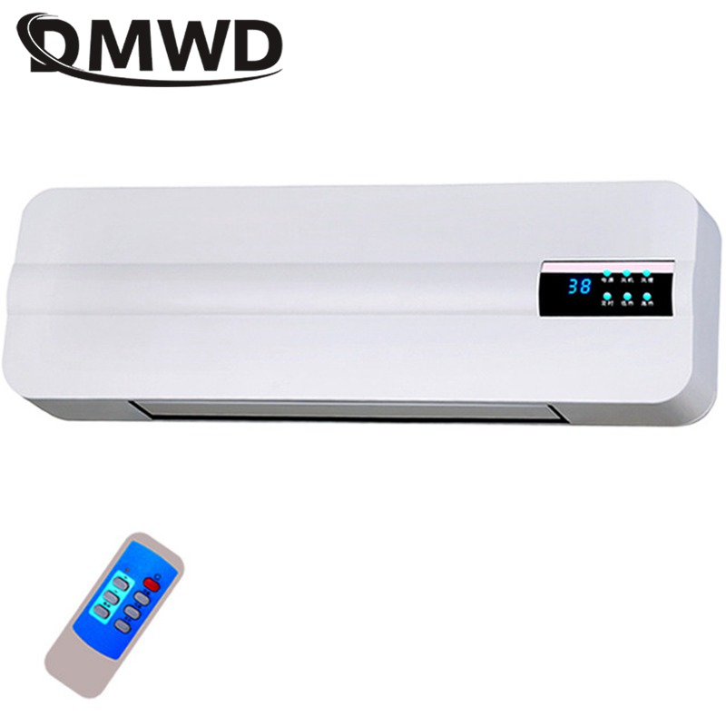 DMWD Wall-mounted Remote Control Heater Air Warmer Home Room Energy Saving Heating Fan Bathroom Heating Air Radiator Convector