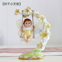 Creative swing lovely angel TV cabinet wine cabinet home accessories porch place wedding gifts birthday girl doll