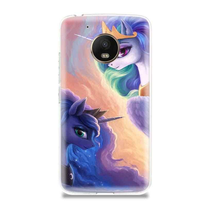 С рисунком из мультфильма «Мой Маленький Пони» Забавный силиконовый TPU с рисунком чехол для Motorola G5 G5S G6 E4 E5 G7 плюс для Moto G4 E5 играть новые индивидуальные чехлы