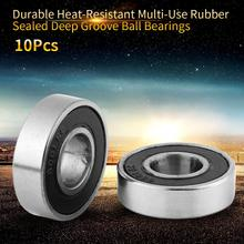 10Pcs/Lot 6001-2RS Miniature Ball Bearings Rubber Sealed Deep Groove Ball Bearings Durable Steel Bearing 12x28x8mm rodamientos 2pcs rubber sealed 440 stainless steel hybrid ceramic ball bearings s6803 6803 2rs 17 26 5mm si3n4 bike part