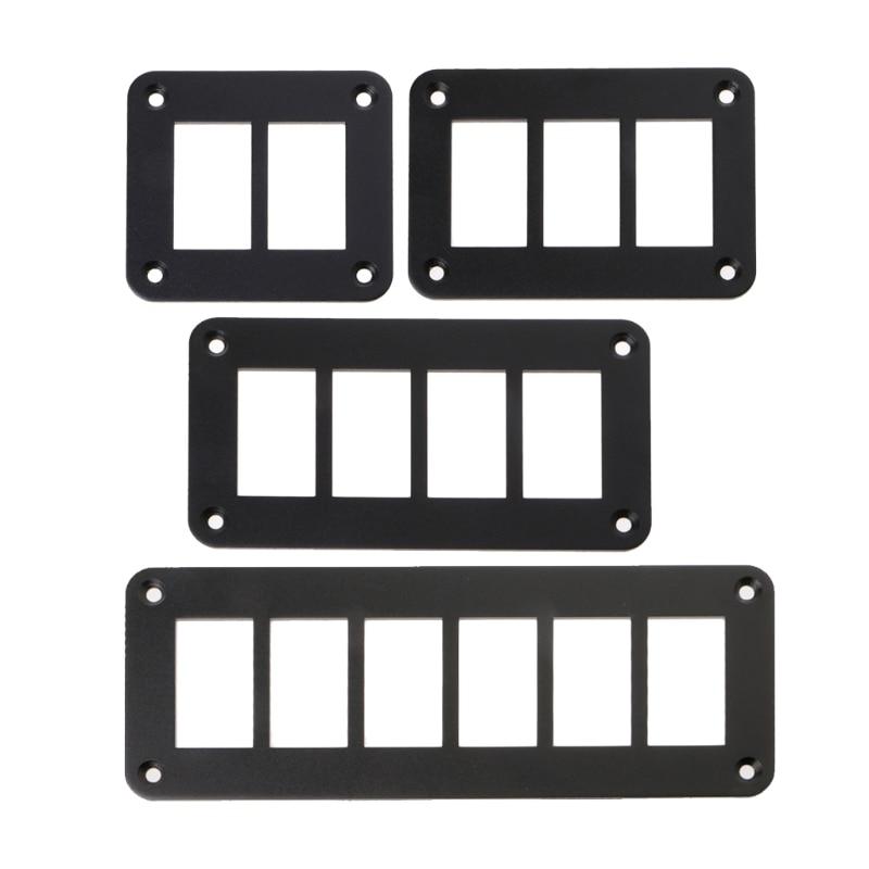 Алюминиевая панель переключателя 2/3/4/6 Way, Держатель корпуса для ARB Carling Narva, тип лодки, автозапчасти, переключатели, запчасти, аксессуары