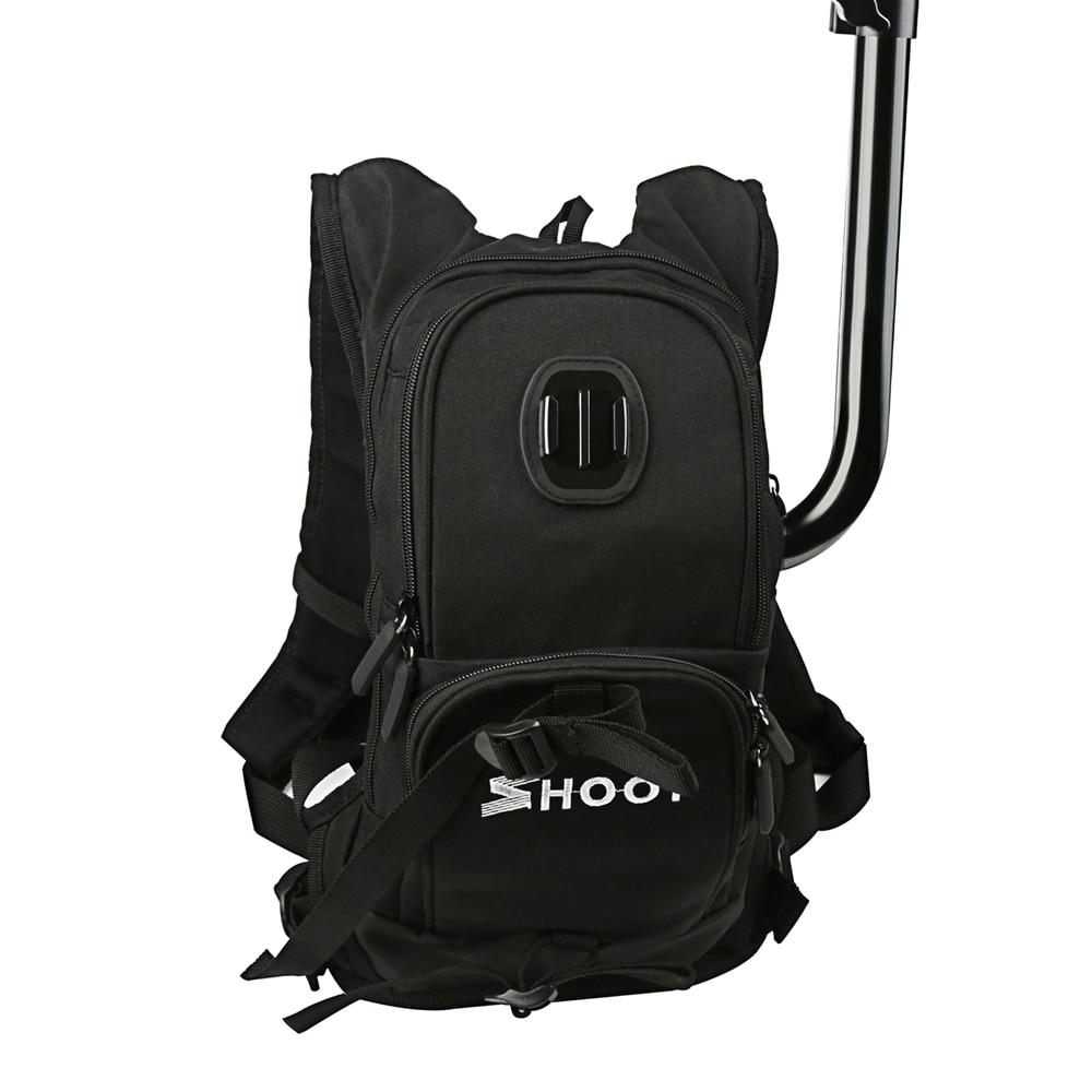 все цены на SHOOT Motorcycle Bicycle Selfie XT-403 Sport Backpack For GoPro Hero 5 4 Session Yi 4K SJCAM SJ4000 Camera & Cycling Pole Stick