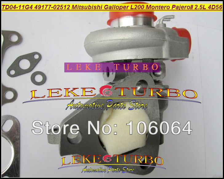 TD04 49177-07612 49177-02513 Turbo Turbocharger For Mitsubishi L200 Montero Pajero II For Hyundai Galloper 4D56Q EC 4D56 2.5L for mitsubishi l200 kb