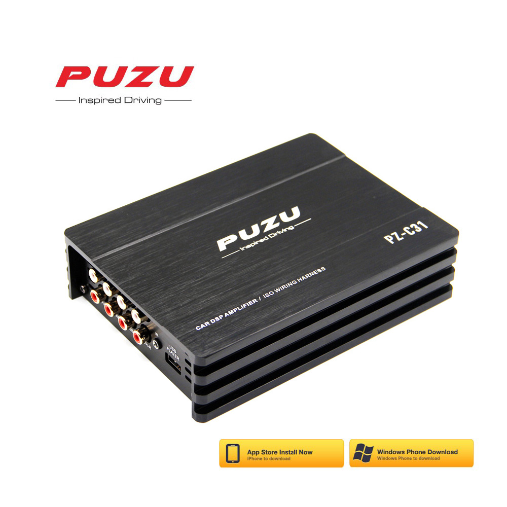 PUZU ISO wiring harness cable Car DSP Amplifier 4X150W support PC tool 31 EQ android APP bluetooth lossless USB music image