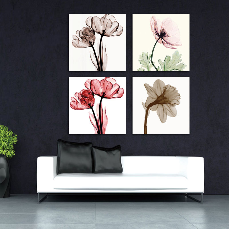ᐂBANMU 4 pcs Moderne Impression Sur Toile pour le Décor de Mur