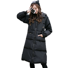 Ms new winter  jacket to add long thick cotton-padded jacket warm cotton-padded jacket large size cotton-padded jacket