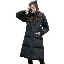 MS новая зимняя куртка добавить длинный толстый хлопка-ватник теплого хлопка-ватник большой размер хлопка-ватник