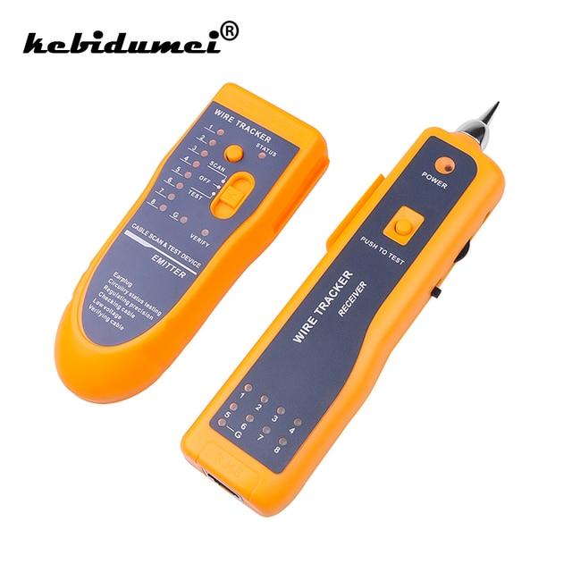 Kebidumei Yeni RJ11 RJ45 Cat5 Cat6 Telefon Tel Tracker Tracer Toner ethernet lan ağı Kablo Test Cihazı Dedektörü Hattı Bulucu