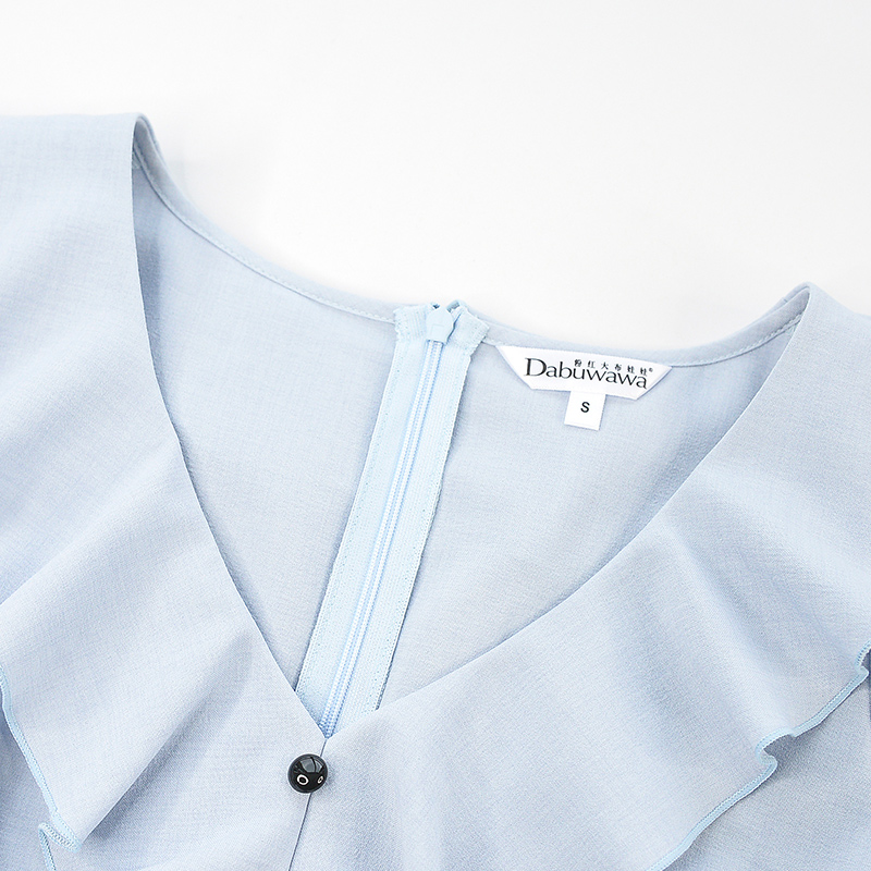 2b2b437e2793 Aliexpress.com : Buy Dabuwawa OL Style elegant Temperament Ruffles V Neck  Waistline Summer Dress 2018 from Reliable Dresses suppliers on dabuwawa  PinkDoll ...