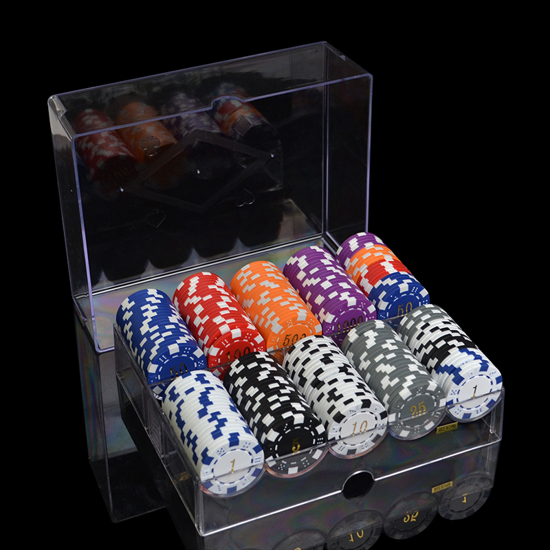 100pcs-1000pcs/set 12 denominations 11.5g/pcs ABS Gilding Poker Chips Coins Texas Hold'em Poker Games Fichas Poker Chips Sets dezhou 50pcs lot coins texas hold em clay poker chips 14g color crown