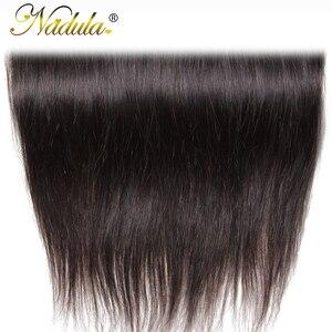 Image 5 - Игрока Nadula волос 13x4 бразильские прямые волосы наращивание спереди на косички 10 20 дюймов Бесплатная Часть Закрытие 130% плотность Волосы Remy Бесплатная доставка