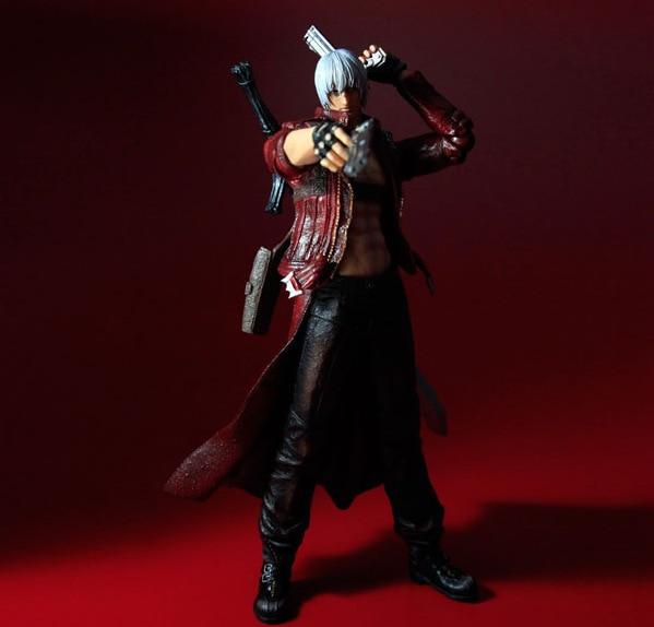 Play Arts Kai Devil May Cry 3 Dante Vergil Figure 25cm Variant Play Art KAI PVC Action Figure Toy Kid