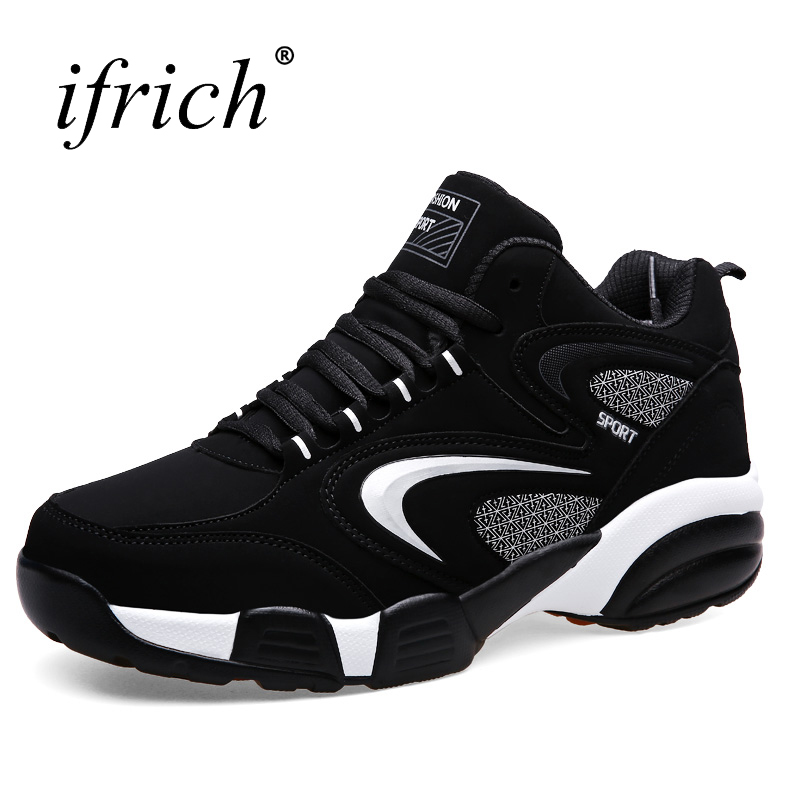 Ifrich New Cool Man Running Shoes Women Fur Warm Couples Running Sneakers Leather Trail  ...