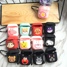 Cartoon Earphone Case For Apple Airpods Case Shockproof Cover For Apple AirPod Wireless Bluetooth Earphone Cute Protector Case cute cartoon case for apple airpods fries burger create cover wireless bluetooth earphone case for apple airpods 2 a30