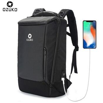 Multifunction Backpack Men Business USB 17inch Laptop Backpack School Bags For Teenager Waterproof Bagpack Rucksack Mochila grande bolsas femininas de couro