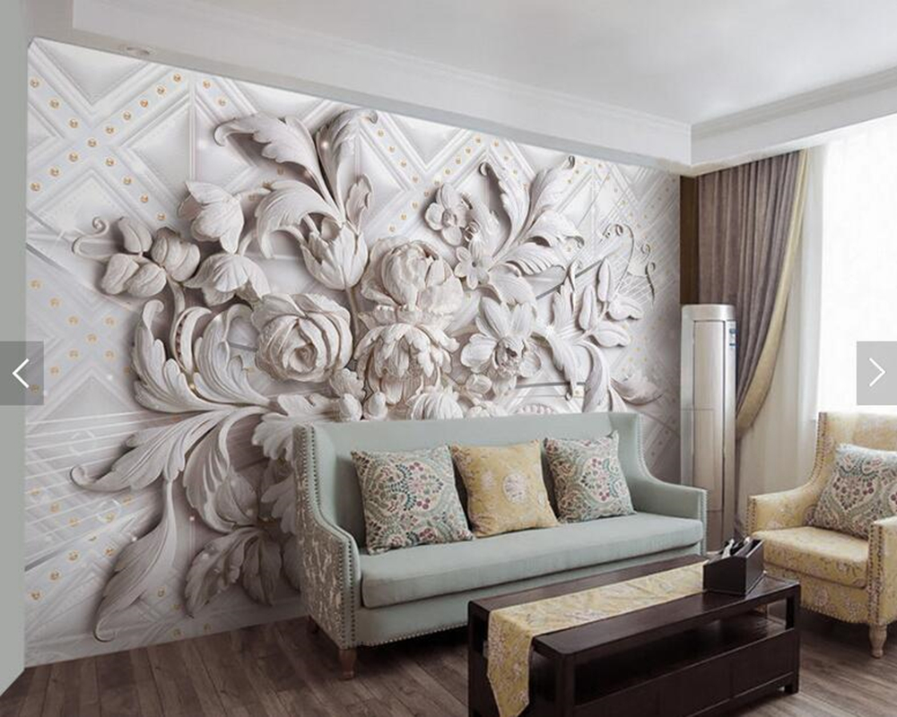 Custom 3d stereoscopic wallpaper, beautiful embossed flowers murals for living room bedroom TV background wallpaper fantasy flowers 3d fashion large wall mural painting living room bedroom 3d wallpaper tv backdrop stereoscopic 3d wallpaper