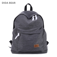 2016 Women Backpacks Canvas Shoulder School Bag Solid Colors For Teenagers Girls Travel Sports Bags Bolsas