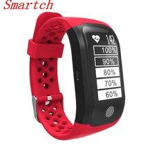 Smartch 2017 S908 Smart Band Bluetooth 4.2 GPS Сердечного ритма Профессиональный Водонепроницаемый Sleep Monitor Шагомер умный Браслет для и