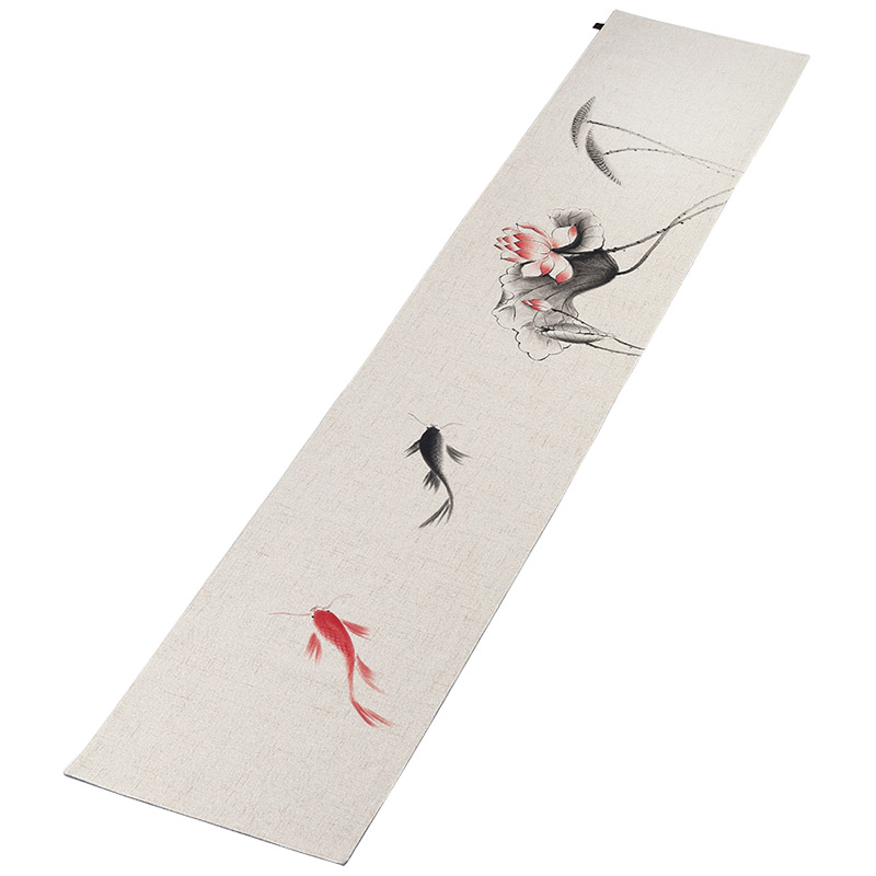 Style chinois peint à la main bambou coton chanvre thé Pad maison Teaware coussin décoration dîner bureau tapis Vintage Table coureur couverture