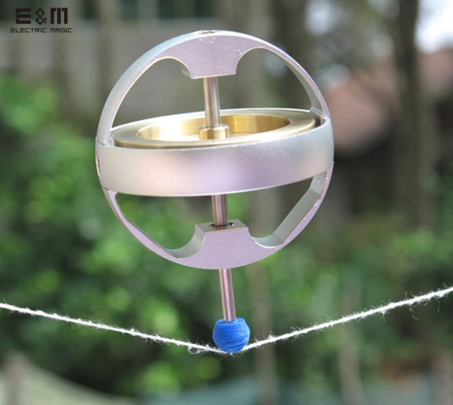 E & M 7500 bricolage Gyroscope mécanique des métaux systèmes Anti gravité stabilisateur instrument expérimental élan angulaire Geek Gyro jouet