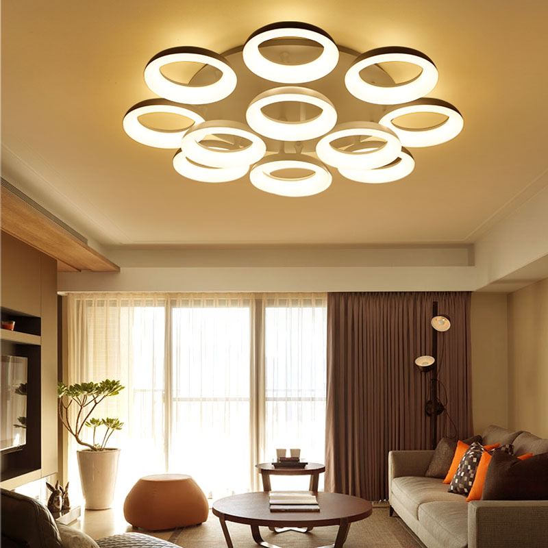 AC90~260V Acrylic Modern Led Ceiling Lights lamparas de techo Home decoration For Badroom Living Room Ceiling Lamp plafonnier noosion modern led ceiling lamp for bedroom room black and white color with crystal plafon techo iluminacion lustre de plafond