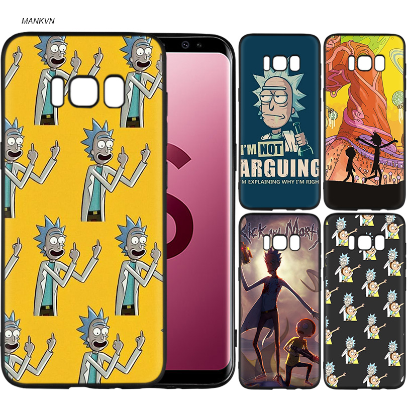 Rick And Morty Black Soft Silicone Case Cover Shell Coque for ...