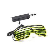 Sound activated Inverter EL Wire Shutter Shape Glasses Glow light up Party Supplies 10Colors Select 100pcs Wholesale Glasses