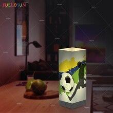 цены FULLOSUN Soccer Night Lights Warm White 3D LED Shadow Lamp USB Power Football Desk Lights as Kids Novelty Gift