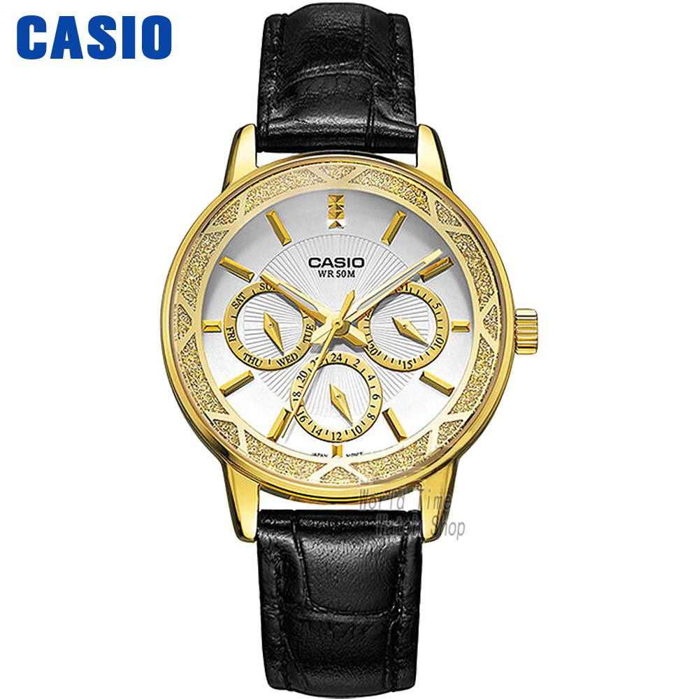 Casio watch Fashion Business Three Waterproof Steel Ladies LTP-2087GL-1A LTP-2087GL-4A LTP-2087GL-5A LTP-2087L-4A LTP-2087G-4A casio watch simple fashion waterproof strip ladies watch ltp 1241d 1a ltp 1241d 2a ltp 1241d 2a2 ltp 1241d3a ltp 1241d 4a
